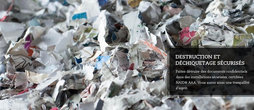 Destruction et déchiquetage sécurisés